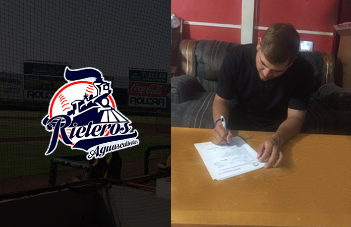 Photo for ANDRADE INKS PRO DEAL WITH THE RIELEROS DE AGUASCALIENTES BASEBALL CLUB
