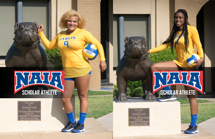 Photo for Perkins and Thomas Recognized as 2016 Daktronics-NAIA Volleyball Scholar Athletes